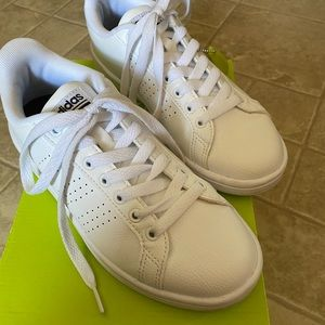 Adidas White Cloudfoam Sneakers